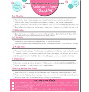 Bachelorette Party Organization
