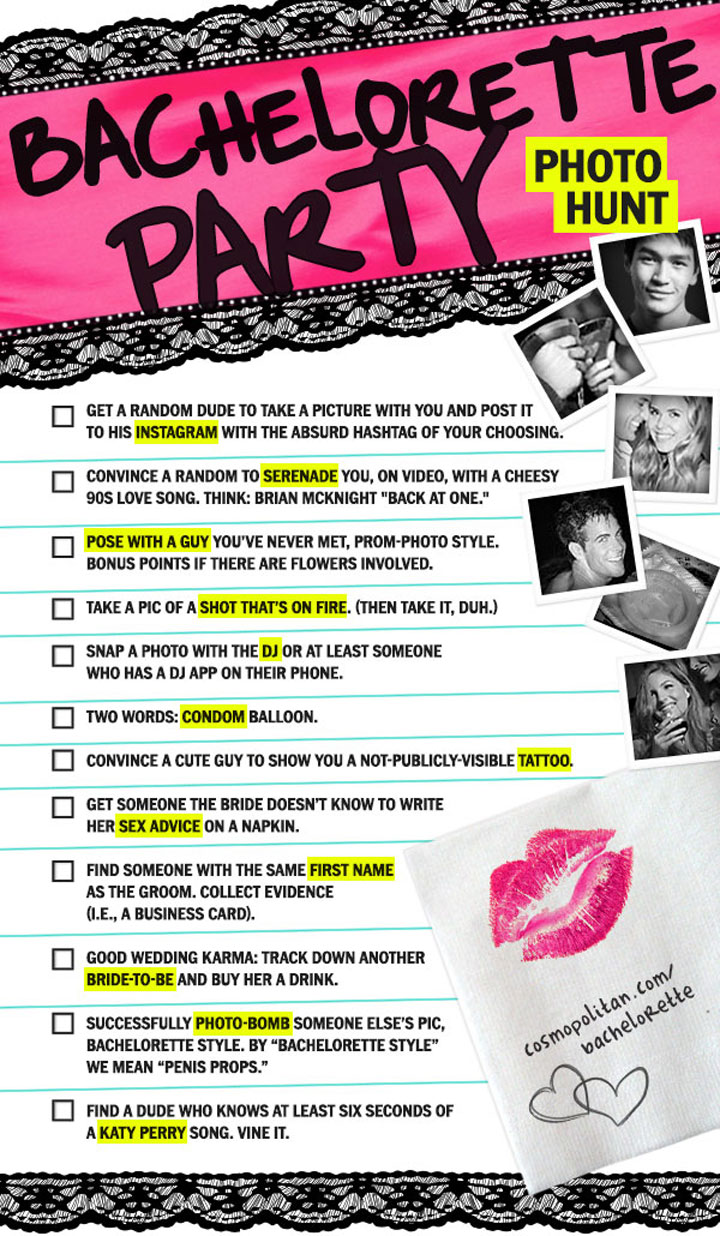 picture about Bachelorette Scavenger Hunt Printable named Cosmos Bachelorette Scavenger Hunt Free of charge Bachelorette Online games